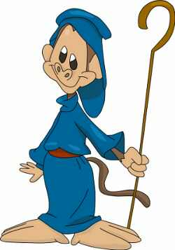 Cartoon Monkey Shepherd